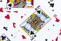 Close up playing cards background stock photo Royalty Free Stock Photo