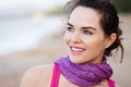 Close up portrait of beautiful woman a a happy outdoors Royalty Free Stock Images
