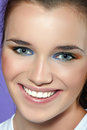 Close-up portrait of beautiful young woman. Royalty Free Stock Photo