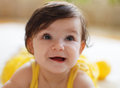 Close up portrait of the eight mounth old baby Royalty Free Stock Photo