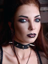 Close-up portrait of lovely young goth girl Royalty Free Stock Photo