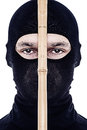 Close up portrait of male ninja Stock Images