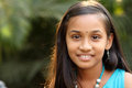 Close up Portrait of Smiling Indian teen girl Royalty Free Stock Images