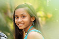 Close up Portrait of Smiling Indian teen girl Royalty Free Stock Photos