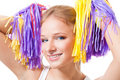 Close up portrait of a woman cheer leader Stock Photos