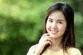Close up protrait yong girl in the outside Royalty Free Stock Photo