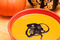 Close up pumpkin soup Royalty Free Stock Photos