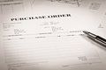 Close up of purchase order Royalty Free Stock Photo