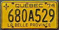 Close up of a quebec number plate canada Royalty Free Stock Image