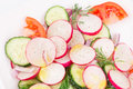 Close up of radish salad whole background Royalty Free Stock Image