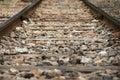 Close up railway tracks railroad Royalty Free Stock Photography