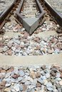Close-up of the railway tracks. Used in transportation Royalty Free Stock Photo