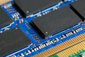 Close up of RAM Computer Memory Chip Modul Royalty Free Stock Photo