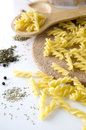 Close up raw pasta Stock Photos