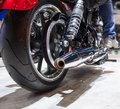 Close Up Of Rear Motorcycle Wheel
