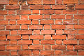Close-up of a red brick wall texture Stock Images