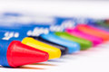 Close up Red crayons Royalty Free Stock Photo