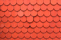 Close up of red roof texture tile for background Royalty Free Stock Photo