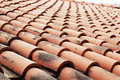 Close up of red roof tiles. Stock Photography