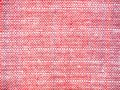 Close up red and white fabric pattern background. Royalty Free Stock Photo