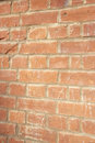 Close-up of reddish-brown brick wall Royalty Free Stock Image