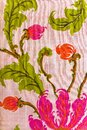 Close up of retro tapestry fabric Royalty Free Stock Photography