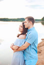 Close up romantic beauty portrait of happy couple in love hugs and having fun, , sunny colors Royalty Free Stock Photo