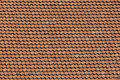 Close up on a roof made of hexagonal tiles Royalty Free Stock Image