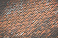 Close up of roof tiles Royalty Free Stock Image