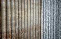 Close up of rust zinc use for background and texture wall Royalty Free Stock Image