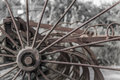 Close up of rusty old farm machinery Royalty Free Stock Photo