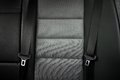 Close up safety belt in a rear seat of modern car or bench Stock Photo