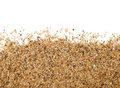 Close Up Of Sand Scattering