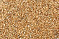 Close-up of sandy brown seed beads. Royalty Free Stock Photo