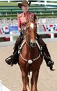 Close-Up of A Senior Citizen On A Horse At The Germantown Charity Horse Show Royalty Free Stock Photo