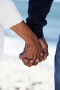 Close Up Of Senior Couple Holding Hands Stock Photography