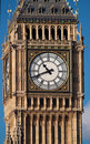 Close up shot of the Big Ben in London Stock Photography