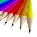 Close-up shot of a colorful pencil composition Royalty Free Stock Photography