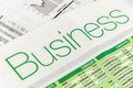 Close up shot of Newspaper headline Royalty Free Stock Photo
