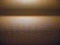 Close up shot patterned dimples speaker Royalty Free Stock Images