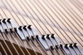 Close up shot of piano chords very shallow depth of field Royalty Free Stock Images