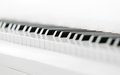 Close up shot of piano keyboard concept music and creative hobby Stock Photo
