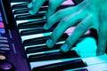 Close Up Shot Of A Piano At A ...