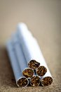 Close up shot pile cigarettes Royalty Free Stock Image