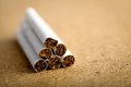 Close up shot pile cigarettes Stock Photography