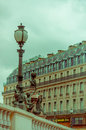 Close up shot of street lamps detail in Paris Royalty Free Stock Photo