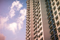 Close-up of Singapore public residential housing apartment in Bukit Panjang. Royalty Free Stock Photo