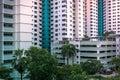 Close-up of Singapore public residential housing apartment in Bukit Panjang. Royalty Free Stock Photo