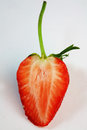 Close up slice strawberrie Royalty Free Stock Photos