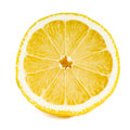 Close up of a sliced lemon over white Royalty Free Stock Image